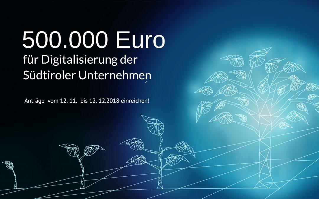 Förderung für die Digitalisierung der Südtiroler Unternehmen
